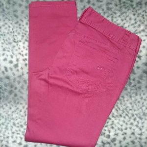 """""""American Rag"""" Bubble Gum Pink Cropped Skinny's"""